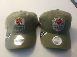His And Hers Chicago Bears Salute To Service Hats New Era Adustable Straps Nwt