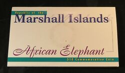 1997 Marshall Islands 10 Dollars Commemorative World Coin The African Elephant