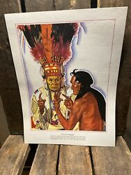 Print Of Blackfoot Indian The Sign Talkers By Winold Reis Nos Copy Great N Rail