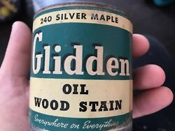 Antique Glidden Oil Wood Stain 240 Silver Maple 1/2 Pint