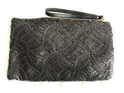 "The Limited Large Evening Black Sequence Wristlet 6"" X 10"" NWOT $12.95"