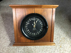 Seth Thomas U.s. Navy Shipand039s 24 Hour Clock 6 Dial 7-5/8 Case In Nice Display