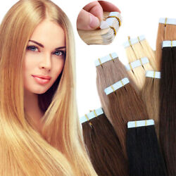 Skin Weft Pu 3m Tape In Remy 100 Human Hair Extensions Blonde 16-26inch