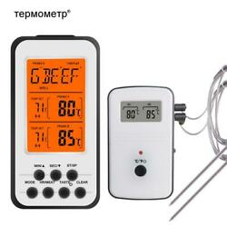 Wireless Digital Bbq Thermometer Kitchen Oven Food Cooking Grill Smoker Meat