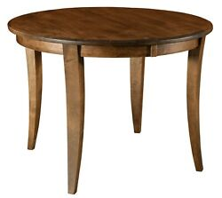 Amish Transitional Round Dining Table Solid Wood 42, 48, 54