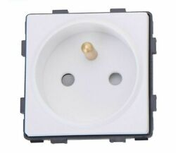 Wall Panel Electrical Socket Single Outlet Frame Fire Resistant For House Luxury