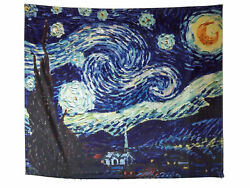 Starry Night Tapestry Wall Hanging Van Gogh Art Wall Tapestries 53.1in X 59in