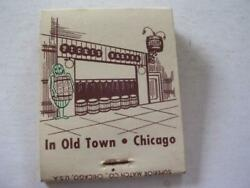 1950's The Pickle Barrel In Old Town 1423 N Wells Chicago Il Full Matchbook