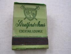 1940and039s Stratford Arms Cocktail Lounge 1404 W Wisc Ave Milwaukee Wi Matchbook Wis