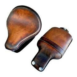 2015-2021 Indian Scout Bobber Seat 12x13 Brown Dist Leather Spring Mounting Kit