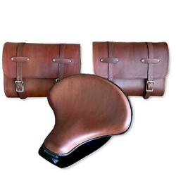2015-2021 Indian Scout Spring 15x14 Tractor Seat Mounting Kit Saddle Bags Brown