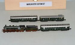 Z Scale Marklin 4-6-2 K.bay.sts.b Steam Loco And 3 Passenger Cars Out Of Set 81781