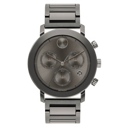 New Movado Bold Evolution Stainless Steel Grey Chronograph 42mm Watch 3600685