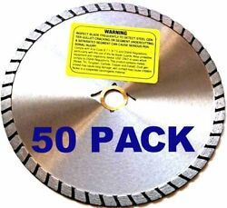 50pack 7 Dry Cut Granite Turbo Diamond Saw Blade For Angle Grinder