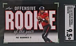 Patrick Mahomes 2017 Leaf Offensive Rookie Of The Year Predictor Sgc 9.5 Mint+