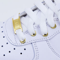 Nike Air Force 1 Low White with Metallic Gold $135.00
