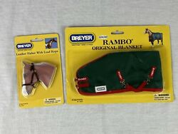 Breyer tack #2456 Leather Halter amp; Lead and #3828 Rambo Blanket traditional