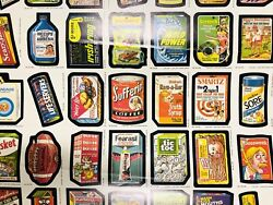 1987 O-pee-chee Wacky Packages Uncut Stickers Sheet