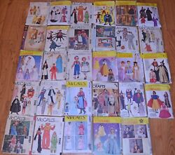McCalls Sewing Patterns Kids Costumes Theatre Reenactment Huge Variety You Pick