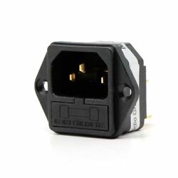Hifi Power Electrical Outlet Plug Fiberglass Housing Gold Plated 3 Pins 250v 10a
