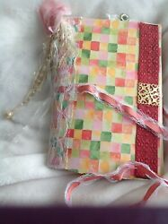 Junk Journal Diary W Embellishments,lots Of Pages Cool Stuff Mini Quilt Block