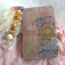 Mini Junk Journal Diary Beaded Tassel, Decorative Plate Lots Of Pages Cool Stuff