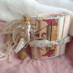 Mini Junk Journal Diary Beaded Tassel, Decorative Beads Lots Of Pages Cool Stuff