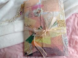 Junk Journal Diary W Beaded Tassel Metal Plate Lots Of Pages Cool Stuff