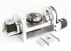 Cnc Router Machine Rotary Indexer Table 4th And 5th Rotational Axis W/ Chuck