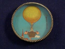 Vintage Dexterity Puzzle Game Hot-air Balloon American Flags 1920s Drgm Germany