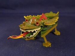 Beautiful Tin Toy Wind-up Mechanical Baby Dragon Tucher Walther Germany