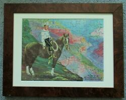 Tom Mix And His New Horse Tony Jigsaw Puzzle, 125 Piece Famed And Matted, Cowboy