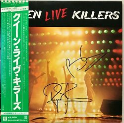 Rare-brian May/ Roger Taylor Queen Signed Live Killers Japanese Red/green Lp