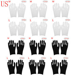 Us 24 Pairs Cotton Thin Protective Working Glove Coin Jewelry Inspection Costume