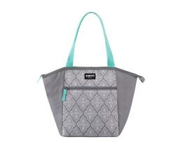 Igloo Cooler Bag Essential Tote 12 Can Capacity Grey with Turquoise Handles $13.95