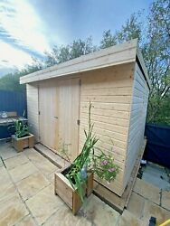Pent Garden Shed Workshop Heavy Duty Shiplap Tongue And Groove 5-10 Days Delivery