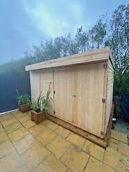 Garden Shed Pent Roof Heavy Duty Shiplap Tongue And Groove All Sizes Available