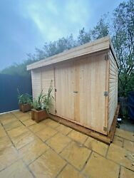 Pent Garden Shed 8ft Depth Heavy Duty Shiplap Tandg All Sizes 5-10 Day Delivery