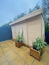 Pent Garden Shed 12ft Depth Heavy Duty Shiplap Tandg All Sizes 5-10 Days Delivery