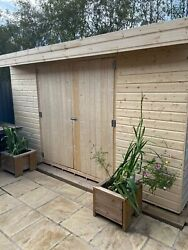 Pent Garden Shed 14ft Depth Heavy Duty Shiplap Tandg All Sizes 5-10 Days Delivery