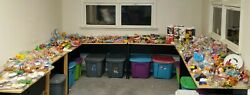 Massive Lot Of Way Over 1000 Vintage Mcdonalds Bk Hardees Happy Meal Toys Cups