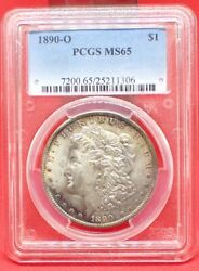1890 O Morgan Silver Dollar. Pcgs Ms65. Very Tough Date In This Grade