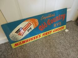 Vintage Advertising Ocarpenter's Old Country Rye Bread Store Display Sign 201-w