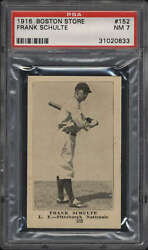1917 Boston Store 152 Frank Schulte Psa 7 Nm Pittsburgh Nationals
