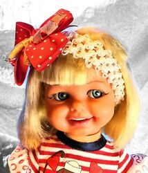 Vintage Ideal Giggles Doll 1967 18 Wiggles Giggles Very Rare Spain Iberia