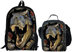 UNICEU 3D T rex Dinosaur Backpacks with Lunch Bag Set Animal Shchool Shoulder $31.50
