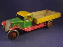 Old Rare Tin Toys Wind-up Dump Truck England Mettoy Wells 1930