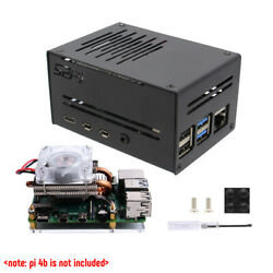 Metal Enclosure Case + Ice Tower Cooler Fan Kit For Raspberry Pi 4 Model B Cpu