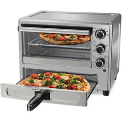 Oster Turbo Convection Toaster Oven W/ Pizza Drawer Stainless Steel Open Box