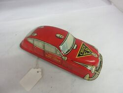 Vintage Marx Fire Chief Friction Car Tin Toy Nice Condition 313-d